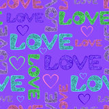 Miłość opakunkowy papier Zdjęcia Royalty Free