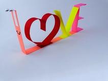 Miłość papier Zdjęcia Stock