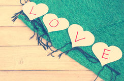 Miłość, papier miłość Fotografia Royalty Free