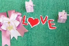 Miłość, papier miłość Obrazy Royalty Free