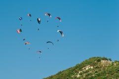 miłość paragliders Obrazy Royalty Free