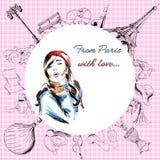 miłość Paris Obraz Royalty Free
