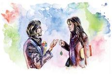 miłość pary Zdjęcie Stock