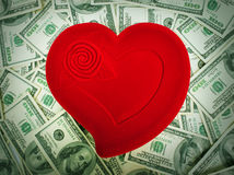 miłość pieniądze Obraz Stock