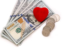 Miłość pieniądze Fotografia Royalty Free