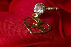 Miłość Pisać na maszynie w sercu zdjęcia royalty free
