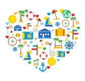 Miłość podróż. Podróży ikony. ilustracja wektor
