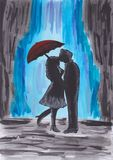 miłość pogodna Obraz Royalty Free