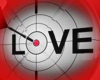 Miłość Pokazuje serce I romans Dla walentynek Obraz Royalty Free