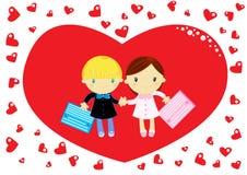 Miłość przy szkołą Zdjęcie Royalty Free
