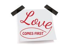Miłość przychodzi najpierw Ilustracji