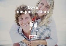 Miłość Przytacza Romansowego walentynki strony internetowej pojęcie Obraz Royalty Free
