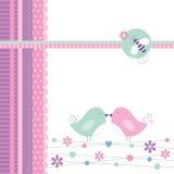 Miłość ptaków kartka z pozdrowieniami Zdjęcie Royalty Free