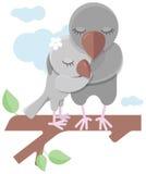 Miłość ptaki i drzewo royalty ilustracja