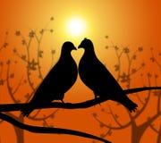 Miłość ptaki Reprezentują Kierowego współczucie I chłopaka royalty ilustracja