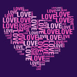 Miłość purpury BG Ilustracji
