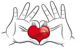 Miłość ręki Zdjęcia Stock