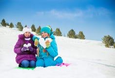 Miłość robić śnieg Obrazy Stock
