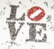 Miłość robić od tłumu Obrazy Royalty Free