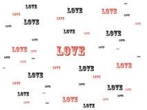 miłość słowa Zdjęcie Royalty Free