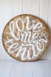 Miłość słowa love me tender Listy pisać na drewnianym tle Obraz Royalty Free