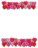 Miłość serc Szczęśliwa walentynka Obrazy Royalty Free