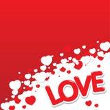 Miłość serc tło Zdjęcia Royalty Free