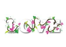 Miłość serc tekst royalty ilustracja