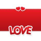 Miłość serca na tle Zdjęcia Stock