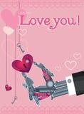 Miłość serca wektorowi Obraz Royalty Free