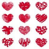 Miłość, serce, miłość, afekcja, symbol, specjalny logo royalty ilustracja
