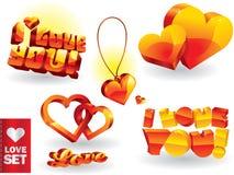 miłość set Zdjęcie Royalty Free