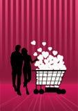 miłość shoping royalty ilustracja