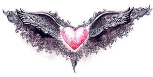 miłość skrzydła Fotografia Royalty Free