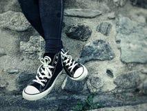 Miłość sneakers Obrazy Royalty Free