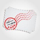 Miłość Stamp3 Zdjęcie Royalty Free