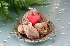 Miłość Suche organicznie figi Zdjęcia Stock