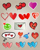 Miłość symbole royalty ilustracja