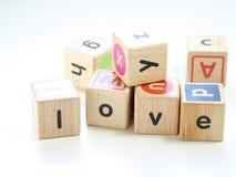 Miłość sześcian Zdjęcia Stock