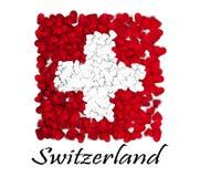 Miłość Szwajcaria Chorągwiany Kierowy Glansowany Z miłością od Szwajcaria Robić w Switzerland Szwajcaria obywatela dzień niepodle royalty ilustracja