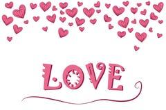 Miłość tło wektor kierowy ilustracyjny romantyczny Wektorowa ilustracja dla wakacje Zdjęcie Stock