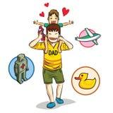 Miłość tata Obraz Royalty Free