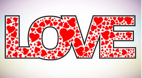 miłość tekst Zdjęcie Royalty Free