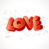 miłość tekst Zdjęcia Royalty Free