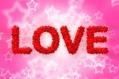 Miłość tekst robić kierowy kształt Zdjęcia Royalty Free