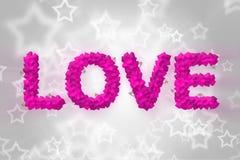 Miłość tekst robić kierowy kształt Obraz Royalty Free