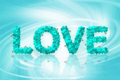 Miłość tekst robić serce ilustracja wektor