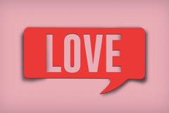 Miłość teksta bąbel obrazy royalty free