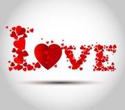 Miłość teksta projekt Zdjęcie Stock
