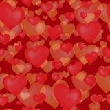 Miłość tematów bezszwowa tekstura Czerwony bezszwowy wzór z czerwonymi sercami odizolowywającymi na bielu obraz stock